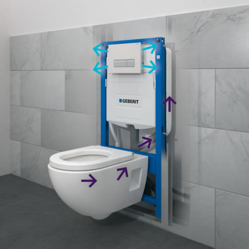 Geberit duofresh neues wc system macht toiletten zur frischluftoase baudatenbank at - Wc suspensie systeem ...