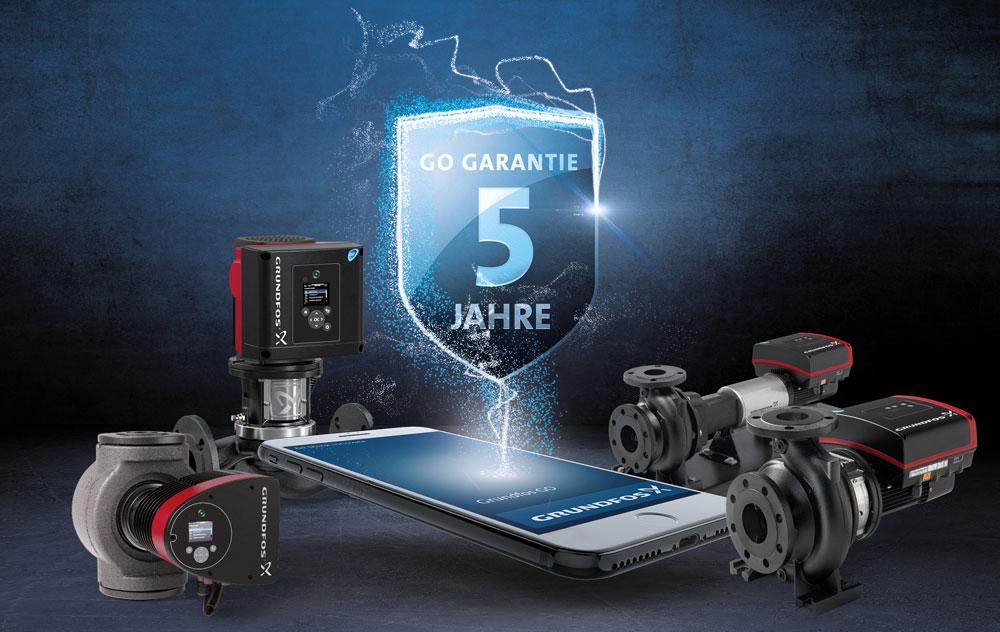 Grundfos Go Garantie für Druckerhöhungsanlagen