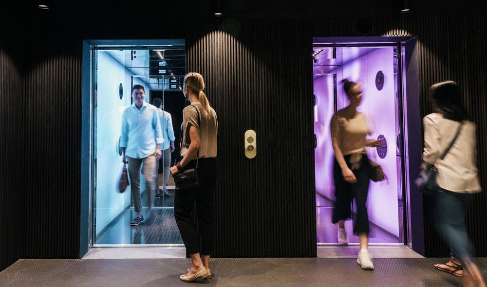 KONE: Die Aufzugsfahrt als Kunsterlebnis