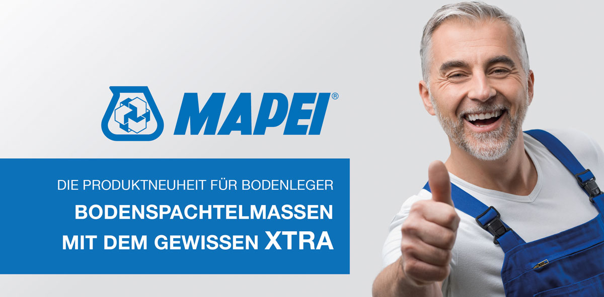 MAPEI präsentiert Produktneuheit für Bodenleger