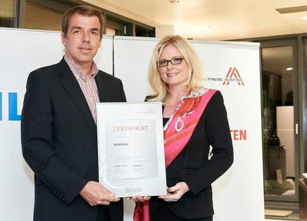 Murexin AG als Leitbetrieb neuerlich zertifiziert