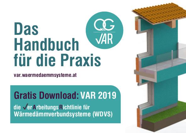 Kostenlos: Verarbeitungsrichtlinie für WDVS (VAR)