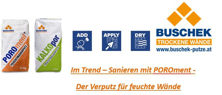 BUSCHEK: Im Trend – Sanieren mit POROment