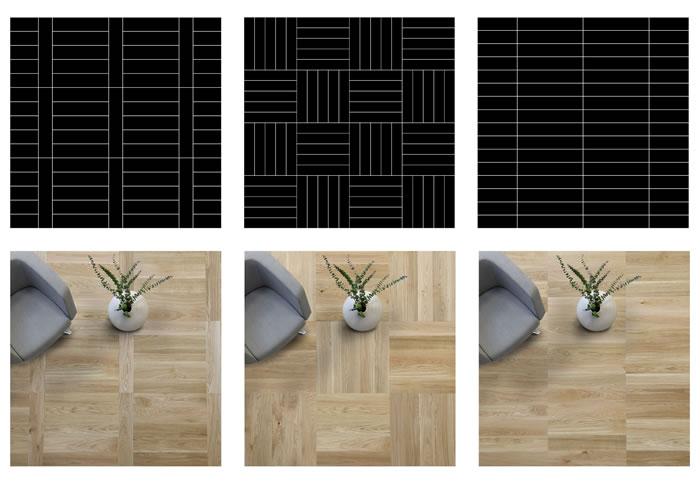 Beispiele Verlegemuster Formpark Quadrato