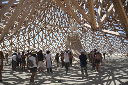GLAXIA - Burning Man Tempel 2018, Nevada. Fotos: Jamen Percy und Christine Bärnthaler