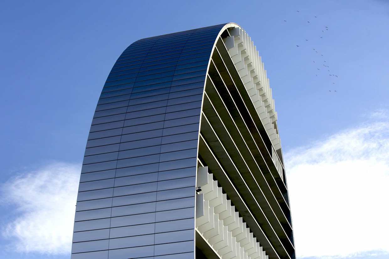 Bank BBVA Headquarter. (Madrid, Spain). Larcore A2 Stainless Steel Laminated