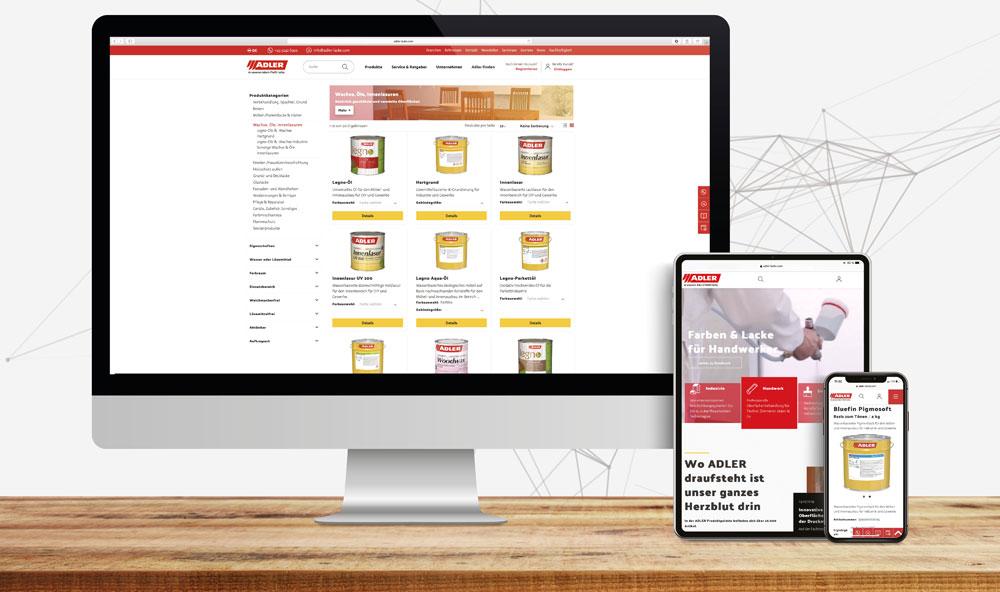 ADLER online: neue Website, neuer Shop