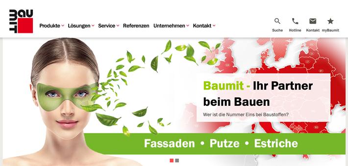 Die neue Baumit Website bietet die Möglichkeit zur Individualisierung – damit noch schneller bereit steht, wonach regelmäßig gesucht wird.