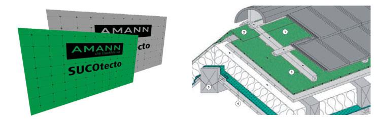 AMANN: Unterdachbahnen Sucoflex CU und SUCOtecto