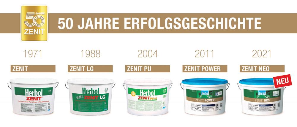 Herbol feiert 50 Jahre Zenit Erfolgsgeschichte und setzt noch einen drauf