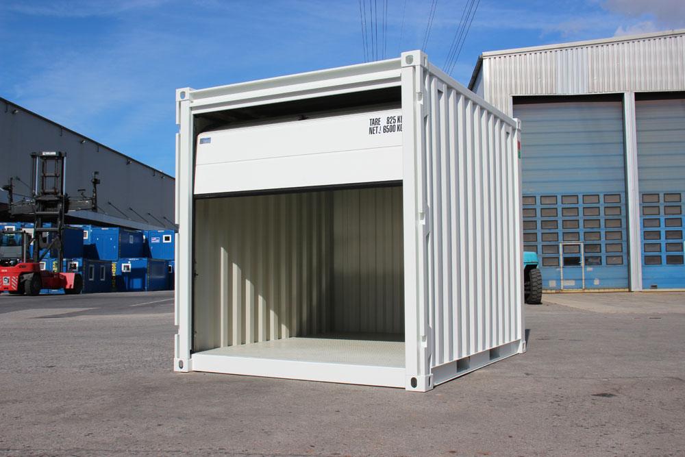 CONTAINEX: Jetzt neu: Lagercontainer mit Sektionaltor