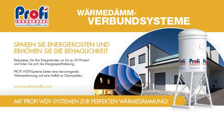 Mit PROFI WDV-SYSTEMEN zur perfekten Wärmedämmung!