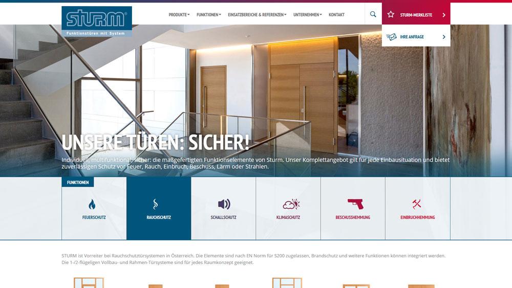 Die neue Homepage von STURM