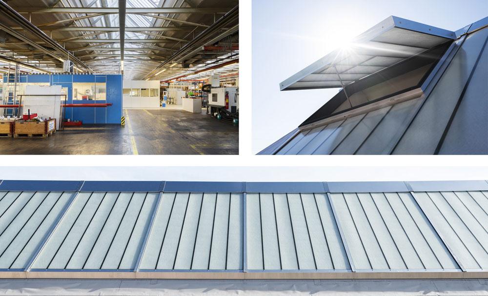 VELUX: Tageslicht, Lüftung und Brandschutz in Industriebauten