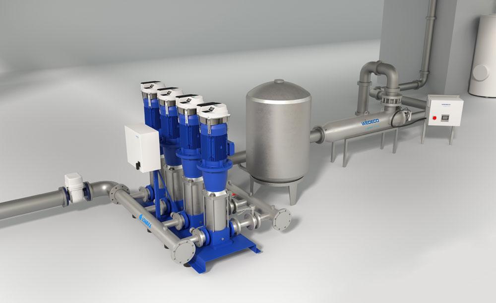XYLEM: Wasserversorgung für Gebäude sichern