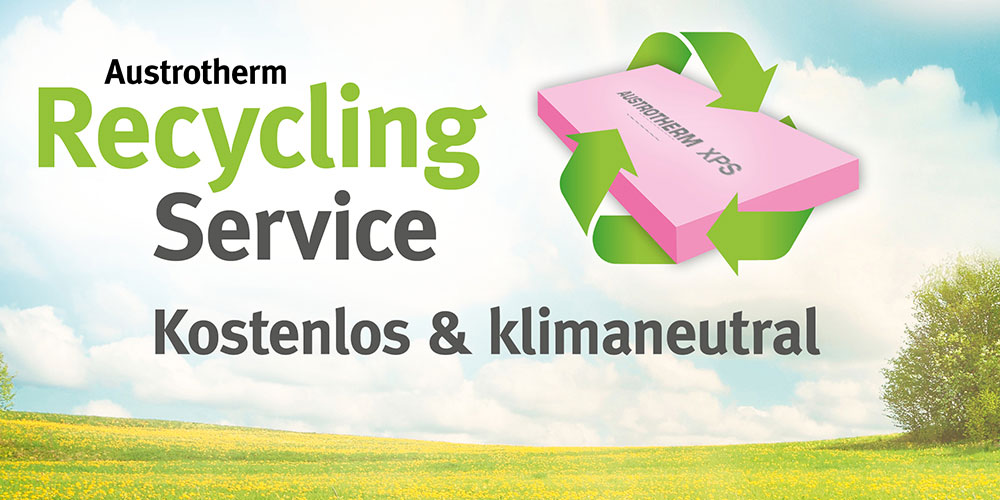 Klimaneutrales & kostenloses Austrotherm Recycling Service