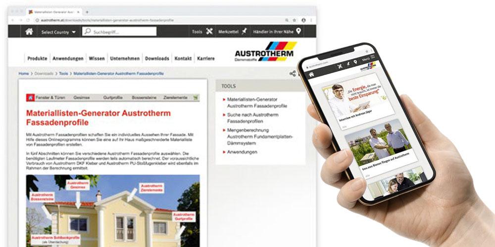 Planungshilfen & Tools für Austrotherm Dämmstoffe