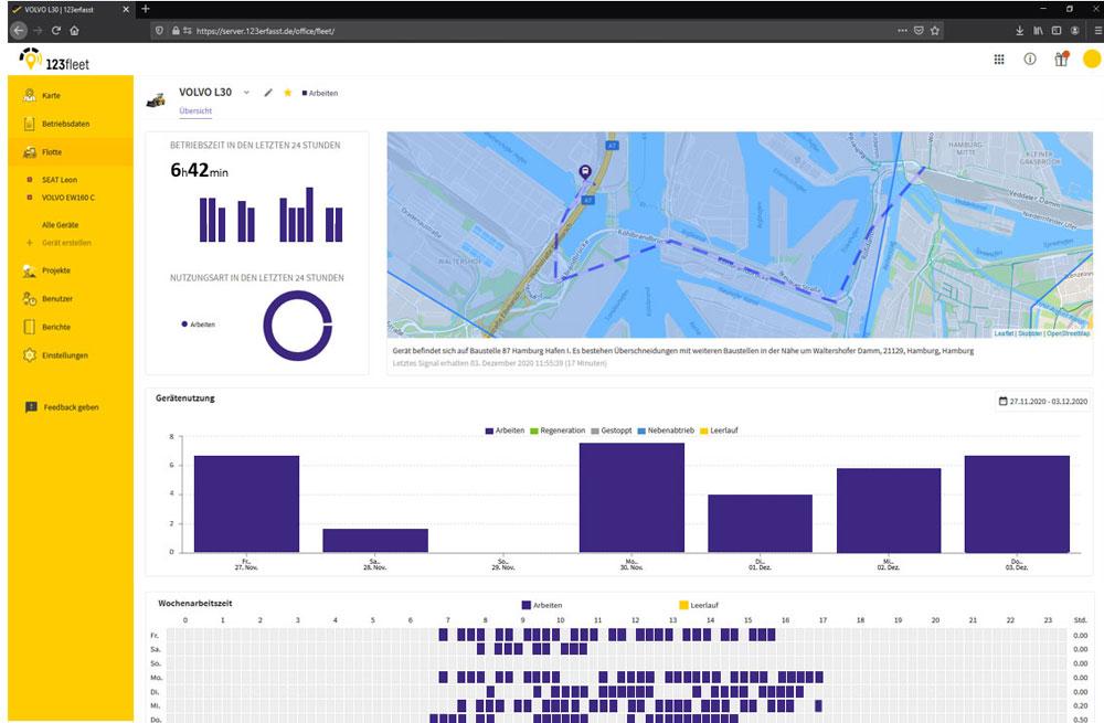 NEVARIS: Baugeräte mit 123fleet effizient und transparent verwalten