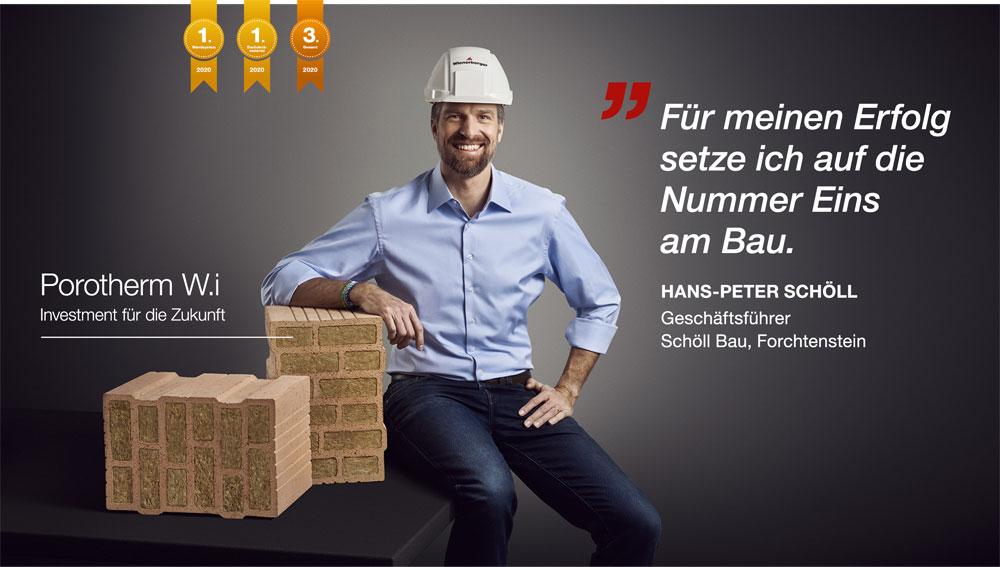 Wienerberger Österreich siegt beim Baumeister-Ranking