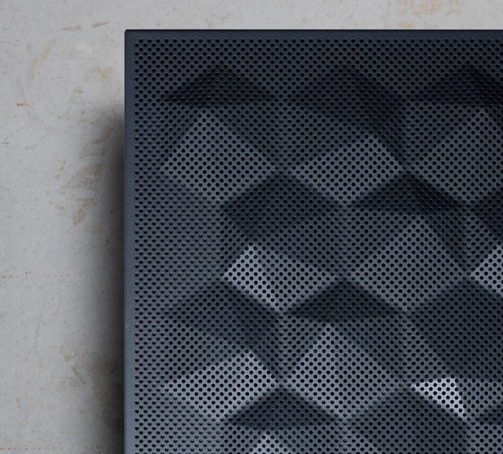 Lindner Metalldeckensegel mit 3D-Optik