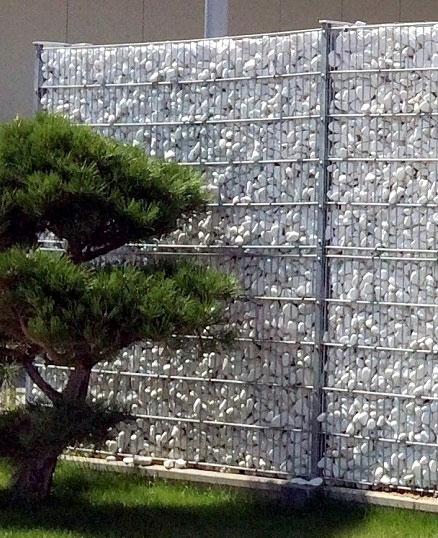 GTI – Steinmauersystem, Doppelstabmattenzaun, Pfosten