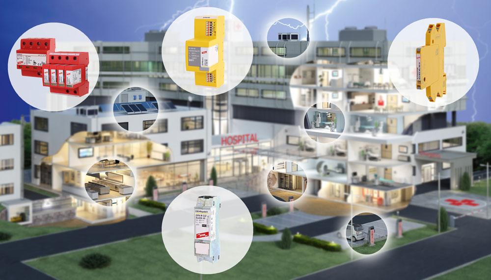 DEHN schützt die technische Gebäudeausrüstung (TGA)vor den Gefahren Blitz und Überspannung