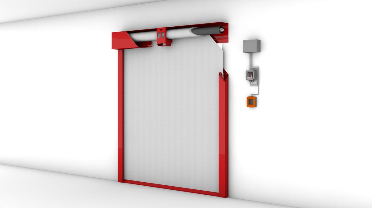 Feuerschutzabschluss textiler Bauart von STÖBICH<sup>®</sup>