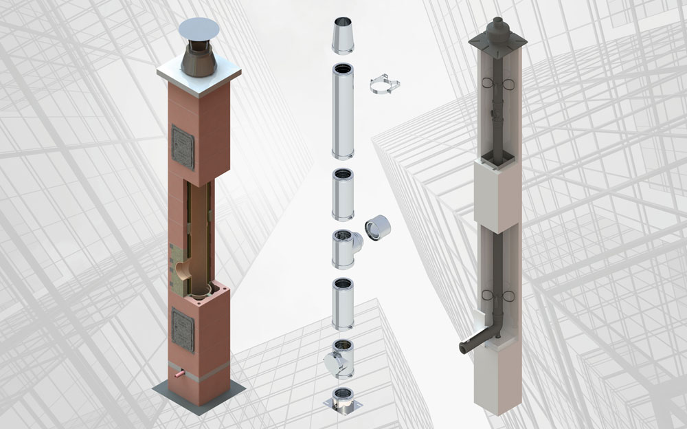 STOCKER: Kamin-, Abgas- und Schachtsysteme