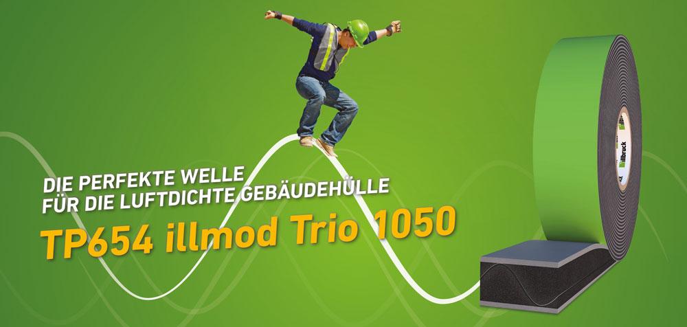Neues Multifunktionsdichtungsband TP654 illmod TRIO 1050 von illbruck