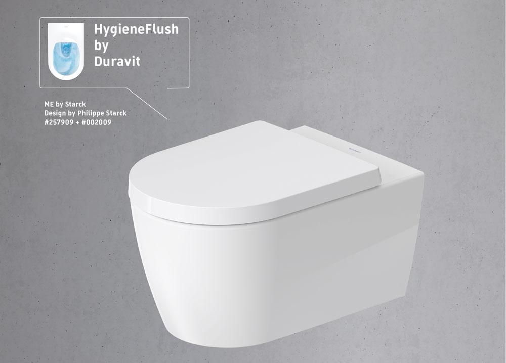 Neues Spülsystem 'HygieneFlush' von Duravit