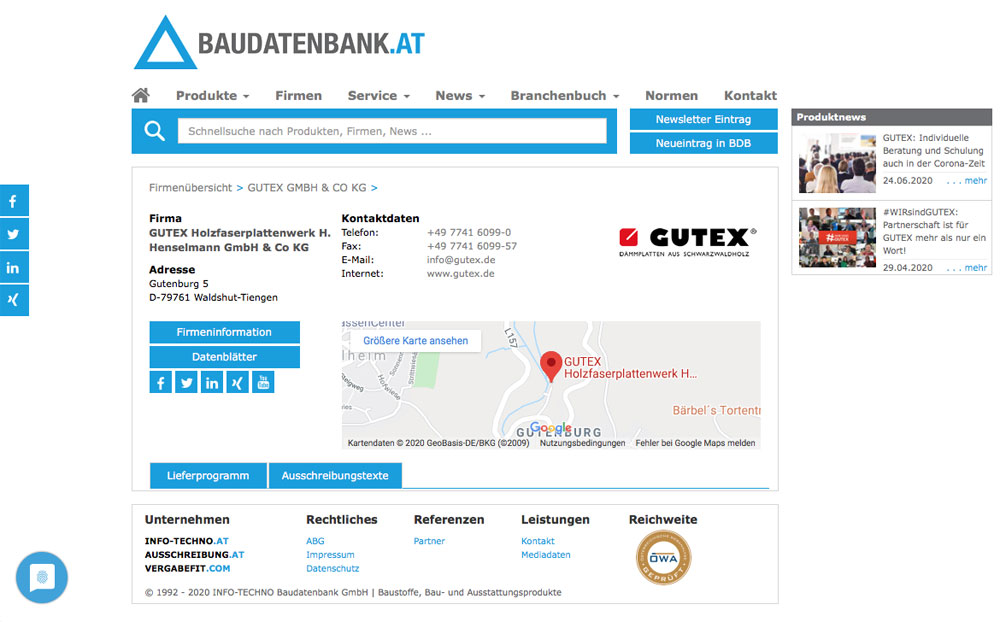 GUTEX Service: Ausschreibungen mit wenigen Klicks erstellen