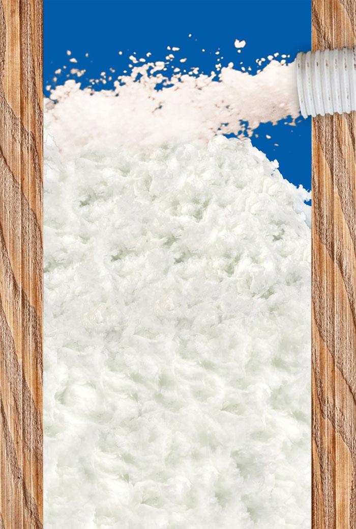 Einblasdämmung aus Mineralwolle