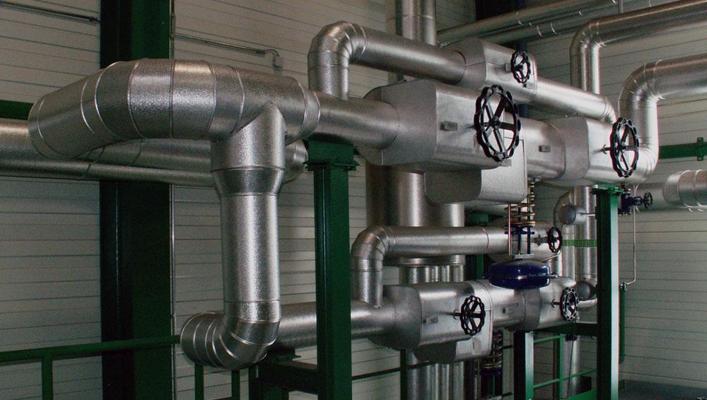 Dämmen von Heizungs- und Trinkwasserleitungen mit Mineralwolle