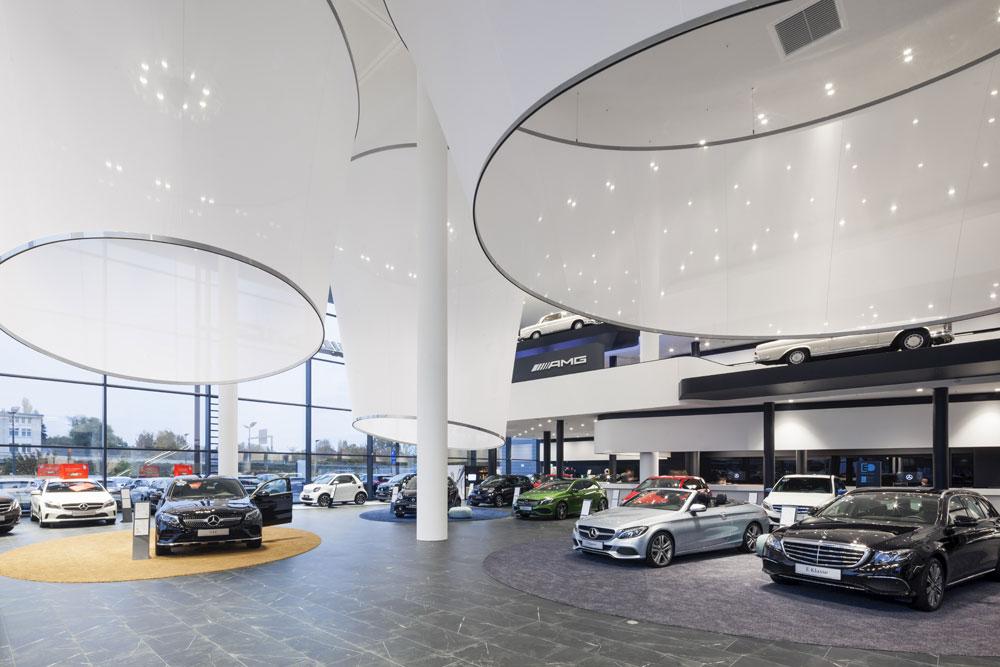 HAHN Lamellenfenster im Showroom von Mercedes-Benz