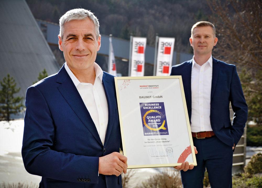 Baumit ist klarer Gesamtsieger beim Business Excellence Award 2020