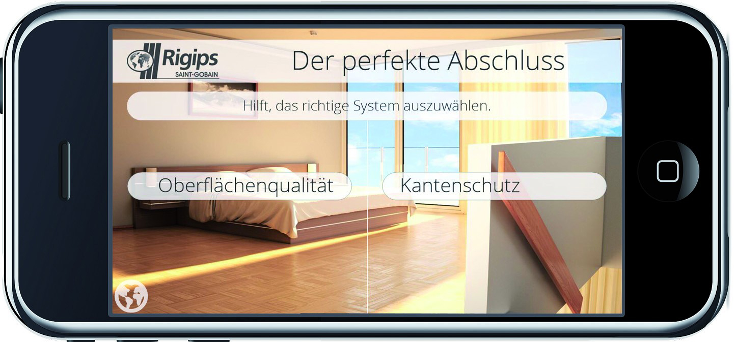 rigips best finish die app f r perfekte oberfl chen und exakte kanten baudatenbank at. Black Bedroom Furniture Sets. Home Design Ideas
