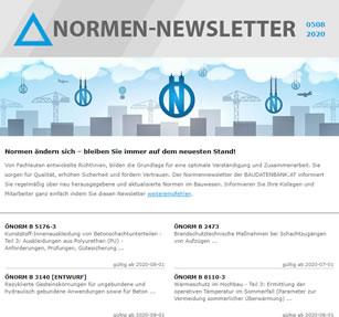 ÖNORM B Newsletter