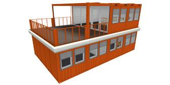 JETZT NEU: CONTAINEX Terrassen–Container