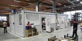 CONTAINEX: Containex: Mobile Raumsysteme als Hallen- und Meisterbüros