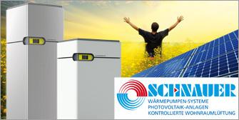 <br>Gratis-Energie mit Schnauer Wärmepumpen und Photovoltaik!<br>