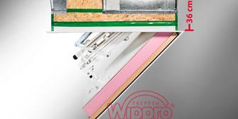 WIPPRO: Wippro: Die Dachbodentreppe für gedämmte Holzdecken